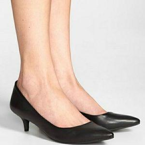 Vince Camuto Naureen Leather Pumps Kitten Heel
